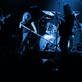Skynyrd Sf 1975 #10 Crop 2 Enhanced In Blue by Ben Upham