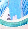 Skyscrapers Against Blue Sky by Jeelan Clark