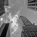 Skytops Manhattan Black And White by Alissa Beth Photography
