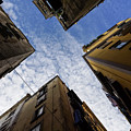 Skyward In Naples Italy - Spanish Quarters Take Three by Georgia Mizuleva