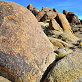 Slanted Boulders In The Alabama Hills by Ray Mathis