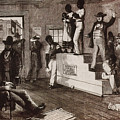 Slave Auction In Virginia by Photo Researchers