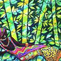 Sleep To Dream Silkpainting Belize by Lee Vanderwalker