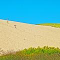 Sleeping Bear Dune Climb In Sleeping Bear Dunes National Lakeshore-michigan by Ruth Hager