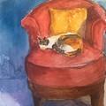Sleeping Calico by Iva Fendrick