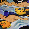 Sleeping Cellists by Valerie Vescovi