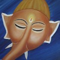 Sleeping Ganesha by Usha Rai