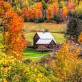 Sleepy Hollow Farm In Fall by Dan Sproul