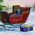 Sleigh Aceo by Brenda Thour