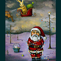 Sleigh Jacker With Lettering by Leah Saulnier The Painting Maniac