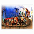 Slice Of Life Milkman Blue City Houses India Rajasthan 1a by Sue Jacobi