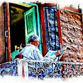 Slice Of Life Sunny Sunday Morning Newspaper India Rajasthan Udaipur 2a by Sue Jacobi