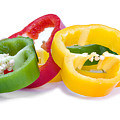 Sliced Colorful Peppers by Meirion Matthias