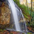 Slick Rock Falls, A North Carolina Waterfall In Autumn by Ina Kratzsch