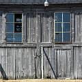Sliding Barn Doors With Windows by William Tasker