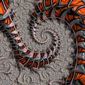 Slithering Creatures Fractal by Dee Flouton