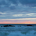 Sliver Of Pink At Moonstone Beach by Sharon Foelz