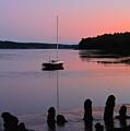 Sloop Sunset by John Meader