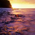 Slow Ocean Sunset by T Brian Jones