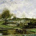 Sluice In The Optevoz Valley by Charles-Francois Daubigny