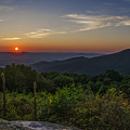 Skyline Drive National Park At Sunset by Bill Cannon