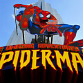 Spider Man Ride Sign.  by David Lee Thompson