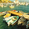 Small Boat Dock Catalina Island California by Floyd Snyder