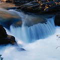 Small Cascade In Maligne Canyon by Larry Ricker