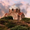 Small Church With Blue Dome by Jaroslaw Blaminsky