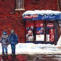 Small Format Paintings For Sale Poutine Lafleur Montreal Petits Formats A Vendre Cspandau Artist  by Carole Spandau