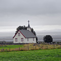 Small Icelandic Church With Gray Roof by Catherine Sherman