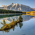 Small Island At Two Jack Lake by Pierre Leclerc Photography