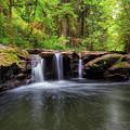 Small Waterfall At Rock Creek by David Gn