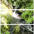 Small Waterfall Smoky Mountains Triptych by Cynthia Woods