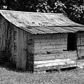 Small White Barn B W by Teresa Mucha