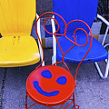 Smile On Chair Seat by Garry Gay