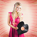 Smiling Dj Woman In Love With Retro Music by Jorgo Photography - Wall Art Gallery