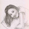 Smiling Girl by Asha Sudhaker Shenoy