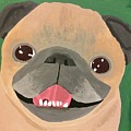 Smiling Senior Pug by Purely Pugs Design