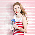 Smiling Stylist With Hair Dryer At Beauty Salon by Jorgo Photography - Wall Art Gallery