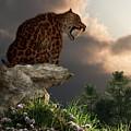 Smilodon Californicus Lookout by Daniel Eskridge