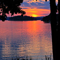 Smith Mountain Lake Sunset by The American Shutterbug Society