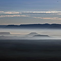 Smoke From Wildfires After Sunrise In The Verde Valley by Ron Chilston