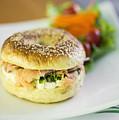 Smoked Salmon And Cream Cheese Bagel by Jacek Malipan