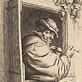 Smoker At A Window by Adriaen Van Ostade