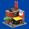 Smokestacks Coffee House - Lego Building by Brian Lyles