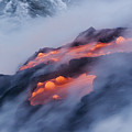 Smoking Pahoehoe Lava by Ron Dahlquist - Printscapes