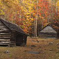 Smoky Mountain Cabins At Autumn by Andrew Soundarajan