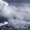 Smoky Mountain Vista In B And W by Steve Gadomski