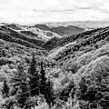 Smoky Mountains In Black And White by Kay Brewer
